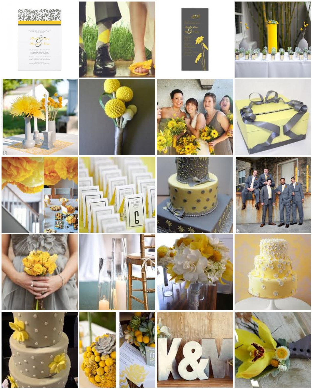 Yellow and Gray Wedding Colors | Dress images